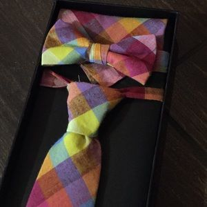 Troy James bow tie and tie set NIB